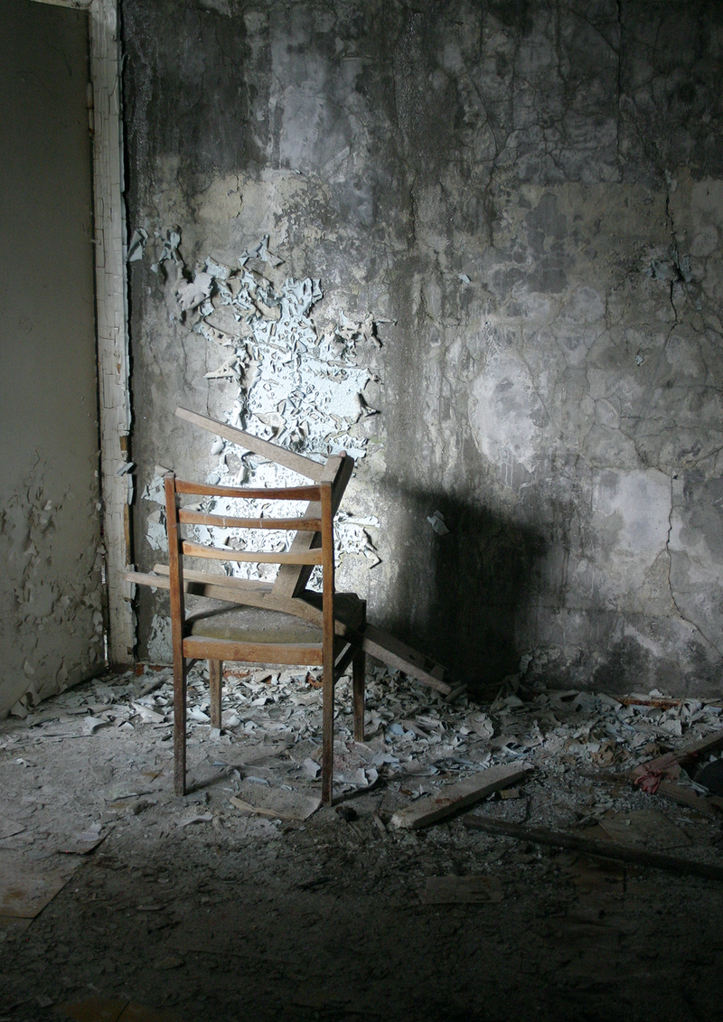 (CreativeWork) Chairs, Middle School No. 3, Pripyat. Ed. 3 of 100 by Rob Maxwell. photograph. Shop online at Bluethumb.