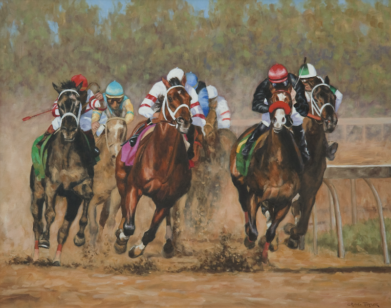 (CreativeWork) Running For Home by Craig Taylor. oil-painting. Shop online at Bluethumb.