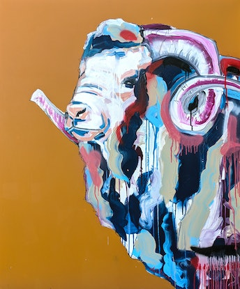 (CreativeWork) The General by Aidan Weichard. Mixed Media. Shop online at Bluethumb.