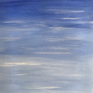 (CreativeWork) Sky or Water? by Fiona Cadd. arcylic-painting. Shop online at Bluethumb.