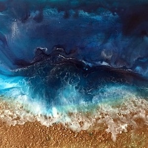 "(CreativeWork) ""Tides In"" by linda bartlett. resin. Shop online at Bluethumb."