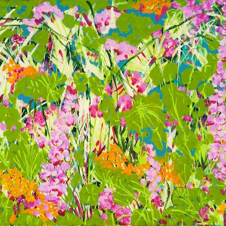 (CreativeWork) Wild Garden by Marlène Holdsworth. Acrylic Paint. Shop online at Bluethumb.