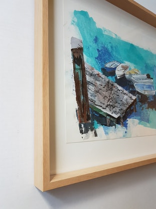 (CreativeWork) ON CALL 1 by Suzy Strout. Mixed Media. Shop online at Bluethumb.