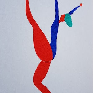 (CreativeWork) Dance Solo No.1 by Yiwei Shi. drawing. Shop online at Bluethumb.