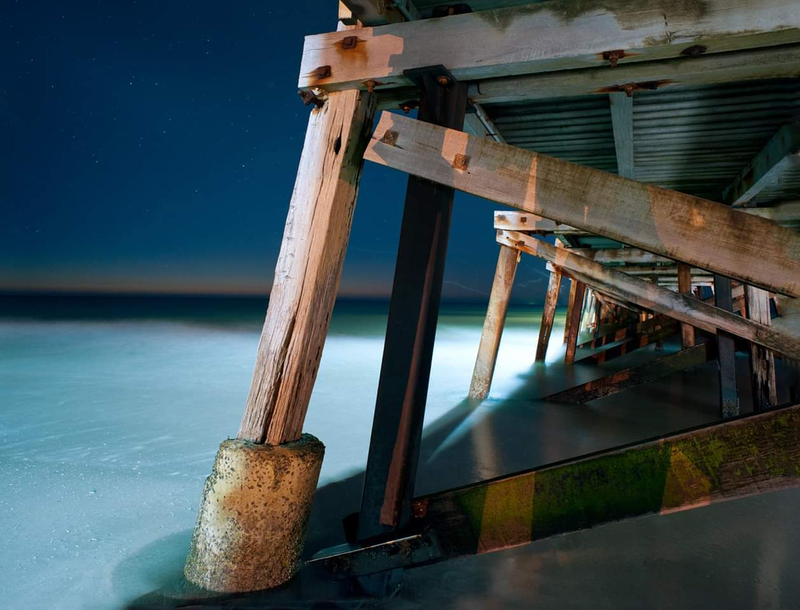 (CreativeWork) Jetty Nocturne Series - SEMA4! by Alex Frayne. photograph. Shop online at Bluethumb.