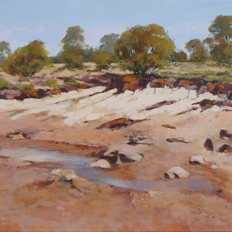 (CreativeWork) Coalseam Conservation Park by Lyn Lee. Acrylic Paint. Shop online at Bluethumb.