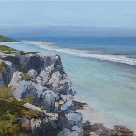 (CreativeWork) The Basin - Yanchep W.A. by Lyn Lee. Acrylic Paint. Shop online at Bluethumb.