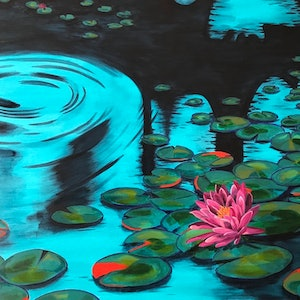 (CreativeWork) Quiet Waters by Nicole Debono. arcylic-painting. Shop online at Bluethumb.