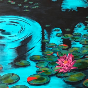 (CreativeWork) Quiet Waters by Nicole Debono. Acrylic Paint. Shop online at Bluethumb.