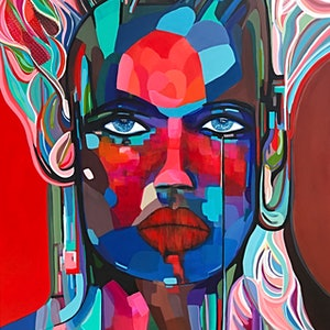 (CreativeWork) Cleopatra  by Tracey Berthold. arcylic-painting. Shop online at Bluethumb.