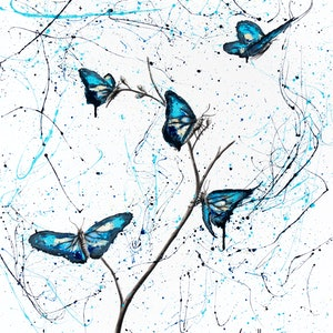(CreativeWork) Azul Garden by Ashvin Harrison. arcylic-painting. Shop online at Bluethumb.