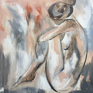 (CreativeWork) Blush nude  2 -art print     Ed. 5 of 50 by Amanda Brooks. print. Shop online at Bluethumb.
