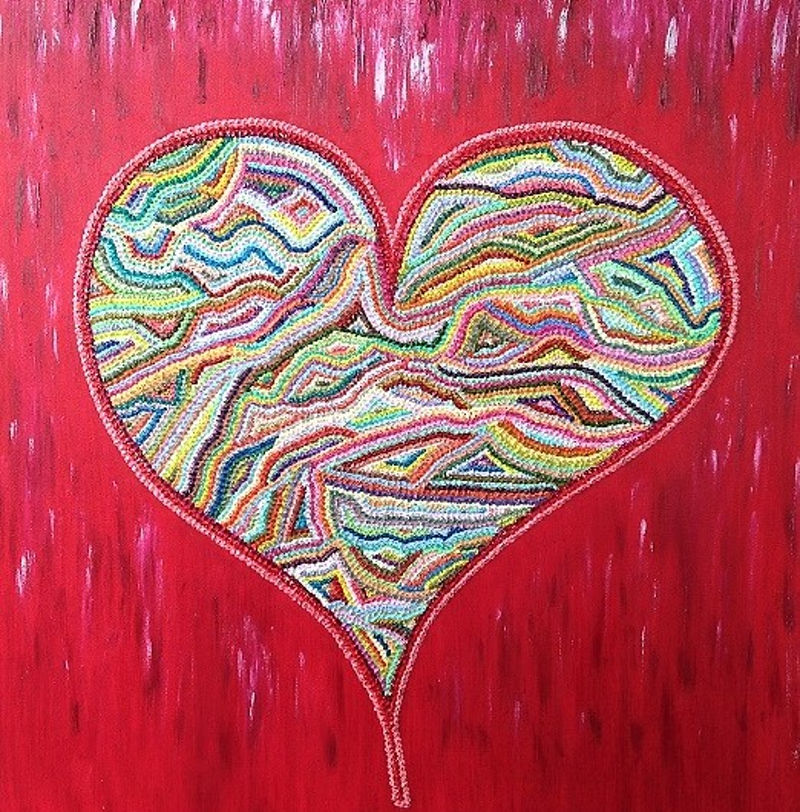 (CreativeWork) Love is Love  by Flavia Julius. oil-painting. Shop online at Bluethumb.