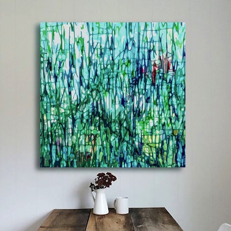 (CreativeWork) 'The Garden' Limited Edition  Archival Solvent Canvas  Print on canvas Ed. 6 of 10 by George Hall. Print. Shop online at Bluethumb.