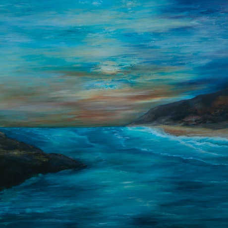 (CreativeWork) Ocean dreaming by Chris Leefe. Acrylic Paint. Shop online at Bluethumb.