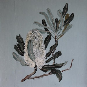 (CreativeWork) Banksia by Bonnie Larden. arcylic-painting. Shop online at Bluethumb.