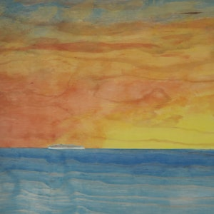 (CreativeWork) A New Day by Barry Johnson. arcylic-painting. Shop online at Bluethumb.