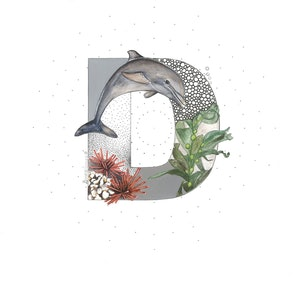 (CreativeWork) D is for Dolphin  by Bonnie Larden. mixed-media. Shop online at Bluethumb.