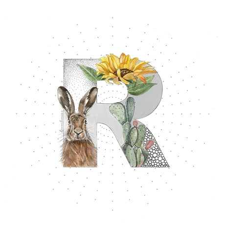 (CreativeWork) R is for Rabbit by Bonnie Larden. Mixed Media. Shop online at Bluethumb.