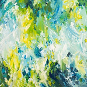 (CreativeWork) Springtime Fever by Amber Gittins. arcylic-painting. Shop online at Bluethumb.