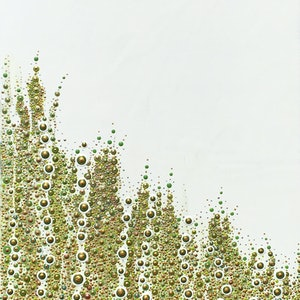 (CreativeWork) Green & Gold by Hilary Graham. arcylic-painting. Shop online at Bluethumb.