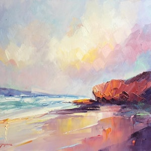 (CreativeWork) Summer light at Sorrento Back beach by Liliana Gigovic. oil-painting. Shop online at Bluethumb.