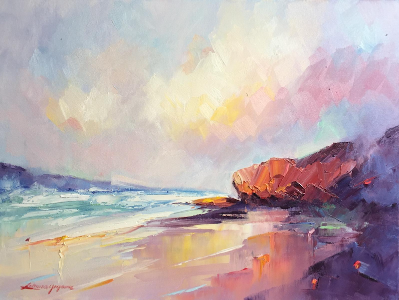 (CreativeWork) Summer light at Sorrento Back beach by Liliana Gigovic. Oil Paint. Shop online at Bluethumb.