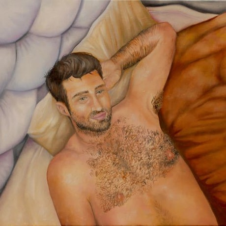 (CreativeWork) Come Lay With Me by Catherine Fiddis. Oil Paint. Shop online at Bluethumb.