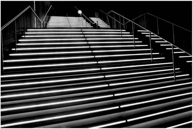 (CreativeWork) Glow Stairs by Alex Frayne. photograph. Shop online at Bluethumb.