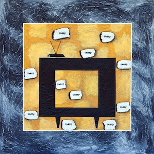 (CreativeWork) Idiot box by Angony's Art. arcylic-painting. Shop online at Bluethumb.