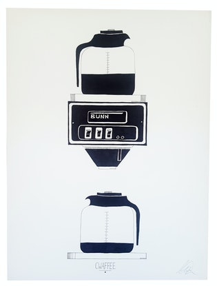(CreativeWork) Cwaffee by Chrysa Koukoura. #<Filter:0x00007fc1a48866a8>. Shop online at Bluethumb.