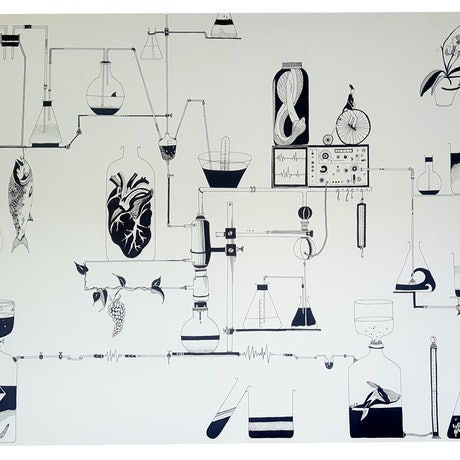 (CreativeWork) Science Trip - The One by Chrysa Koukoura. Drawings. Shop online at Bluethumb.