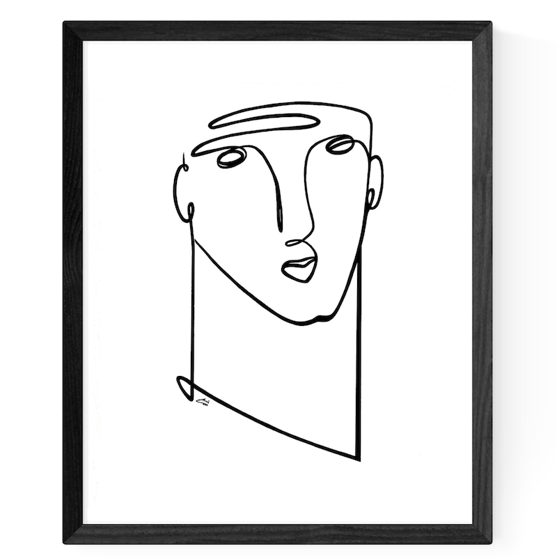 (CreativeWork) 'Simply Him' by Chris Cox. arcylic-painting. Shop online at Bluethumb.