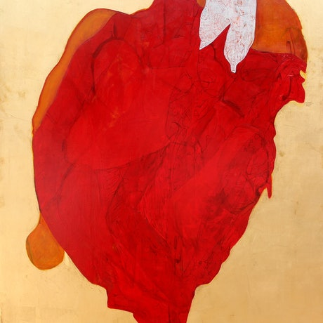 (CreativeWork) Heart by STEVEN PERRIN. Oil Paint. Shop online at Bluethumb.