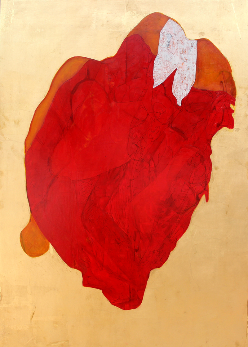 (CreativeWork) Heart by STEVEN PERRIN. oil-painting. Shop online at Bluethumb.