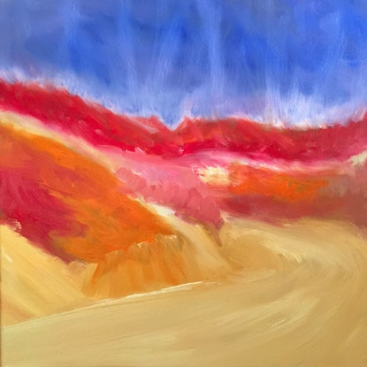 (CreativeWork) Emergence 5 by Kitty Berton. Oil Paint. Shop online at Bluethumb.