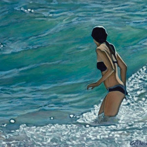 (CreativeWork) Rising Tide Ed. 2 of 50 by Camellia Morris. print. Shop online at Bluethumb.