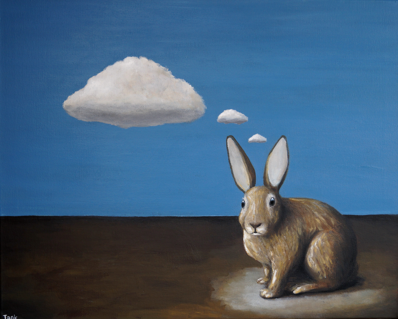(CreativeWork) Thought Clouds by Tank .. arcylic-painting. Shop online at Bluethumb.