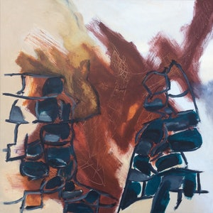 (CreativeWork) The Grand Canyon by Kathy Best. arcylic-painting. Shop online at Bluethumb.