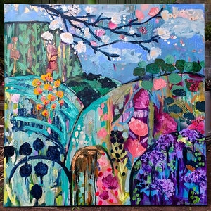 (CreativeWork) Springtime Walk by Sandra Oost. arcylic-painting. Shop online at Bluethumb.