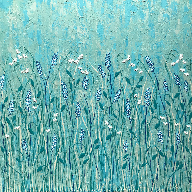 (CreativeWork) Abundant Wild Flowers by Lisa Frances Judd. arcylic-painting. Shop online at Bluethumb.