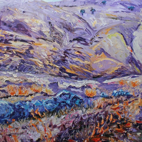 (CreativeWork) YANKALILLA TO NORMANVILLE by Maureen Finck. Oil Paint. Shop online at Bluethumb.