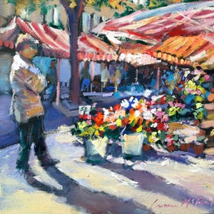 (CreativeWork) You Don't Bring Me Flowers by Carmen McFaull. oil-painting. Shop online at Bluethumb.