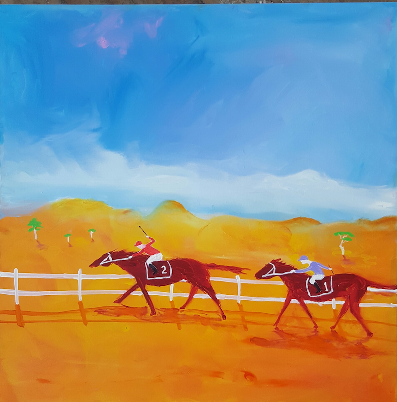 (CreativeWork) The Outback Cup by Little Heath. oil-painting. Shop online at Bluethumb.