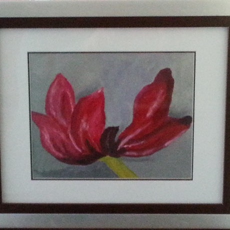 (CreativeWork) Tulip by Elisabeth Puruto. Acrylic Paint. Shop online at Bluethumb.