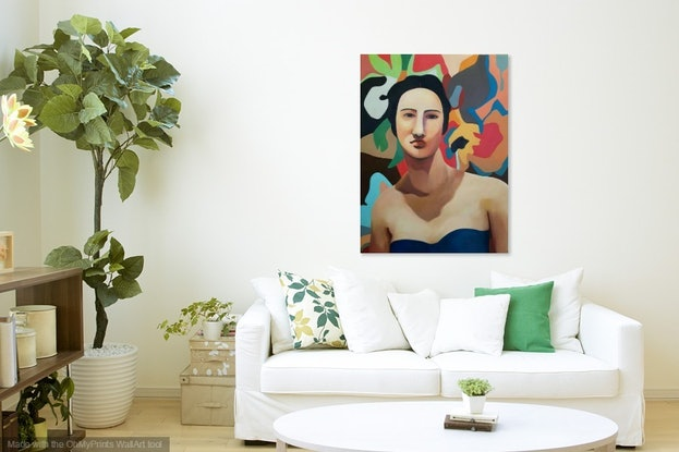 (CreativeWork) Muse by Linda Lee. Oil Paint. Shop online at Bluethumb.