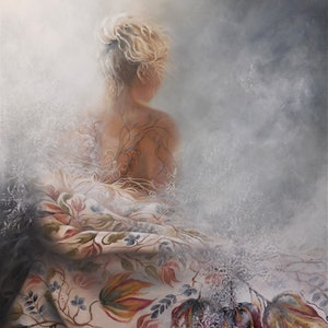 (CreativeWork) Emergence by Sue Norris. oil-painting. Shop online at Bluethumb.