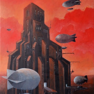 (CreativeWork) Tower by Max Horst  Sokolowski. arcylic-painting. Shop online at Bluethumb.