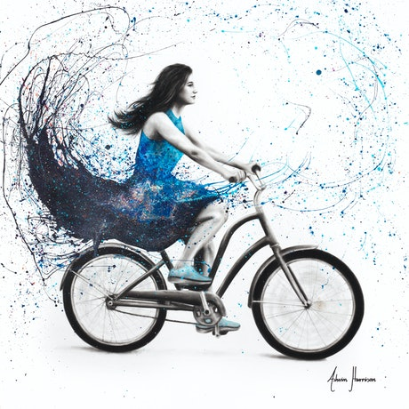 (CreativeWork) Forever Tonight by Ashvin Harrison. Acrylic Paint. Shop online at Bluethumb.