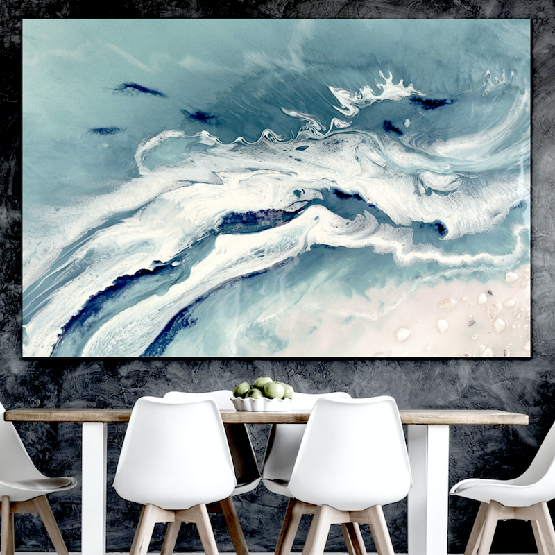 (CreativeWork) Bali Utopia 2 Grey Neutral Abstract Artwork. ACRYLIC Limited Edition Print | Antuanelle Ed. 1 of 25 by MARIE ANTUANELLE. print. Shop online at Bluethumb.